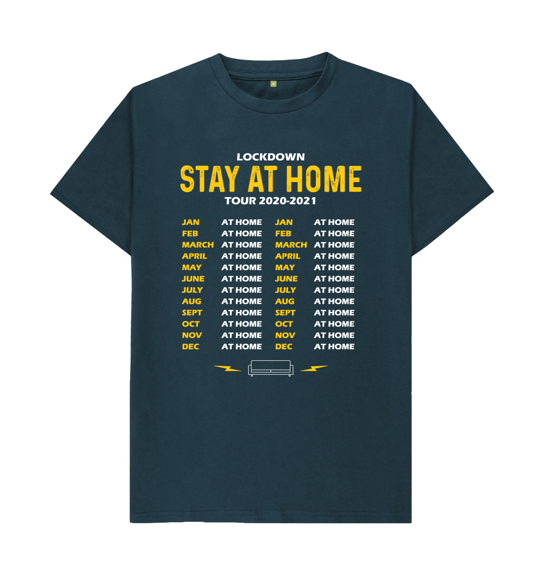 Denim Blue Stay At Home Tour Dates T-shirt